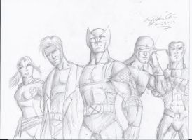 Wolverine and the x men!! by craig1992