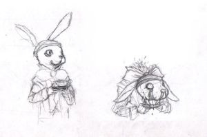 Madness in Alice / Hare sketch by Madness-of-Hamlet