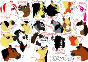 My Horse Characters by StarCrossedPsycho