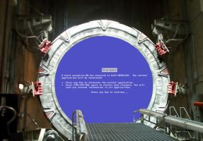 Stargate bluescreen by Oggey-Boggey-Man