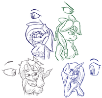 New Eye Style Sketches by GamefreakDX