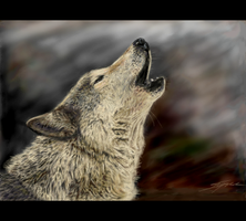 Howling Wolf by Eenuh