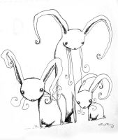 the disturbed bunnies by chrisbonney
