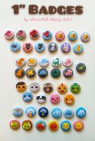 Button Badges 2009-2011 by chiccachilli