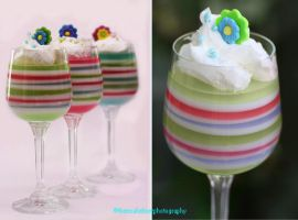 Pastel-Colored Rainbow Jello by theresahelmer