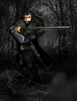 Thorin in Mirkwood by Tolkein-Lady
