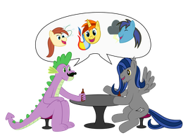 (CAC 1Year) Taking time to hang with a fan by MummifiedThunderbird