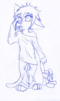 Kitty boy needs a nap SKETCH by kungfudemoness