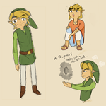 Adult Toon Link Doodles by Gazizaty