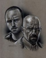 Walt and Jesse by RandySiplon