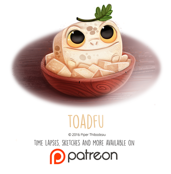 Daily Paint 1453. Toadfu by Cryptid-Creations