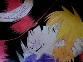 Alucard and Seras Victoria by AaragonNega
