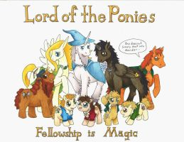 Lord of the Ponies: Fellowship is Magic by Allison-beriyani