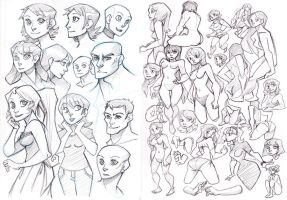 people sketches by Hodori