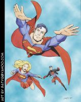 Superman Family by SatyQ