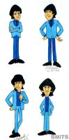 Old Art: TV Cartoon Beatles by Smitkins