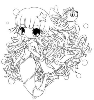 Mermaid Chibi WIP by YamPuff