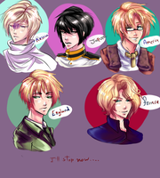 I actually doodled some Hetalia by o-Ironical-O