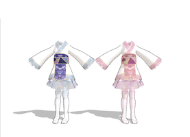 MMD Blue and Pink Kimotos by Togekisspika35