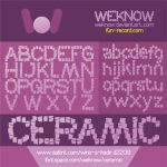 Ceramic font by weknow by weknow