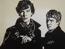 SH and JW painting by BossHossBones