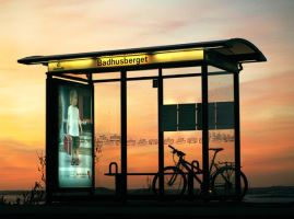 Bus stop by per-nuder