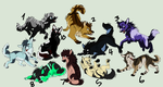 OPEN Adopts 4 by HalfmoontheLynx