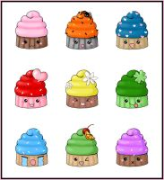 Cupcake Stickers by bapity88