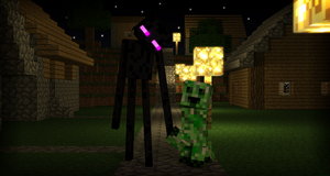 Enderman on a date by LockRikard