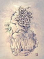 Madusa with Flower by mishinsilo