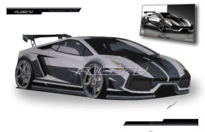 lamborghini gallardo paint by albeny