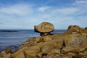 STRANGE ROCK AT SEA STOCK by ArwenArts
