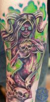 Demon Woman Tattoo done by Sean Ambrose by seanspoison