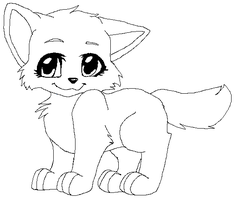 Free Kitten Line Art by Sugarfoxxy