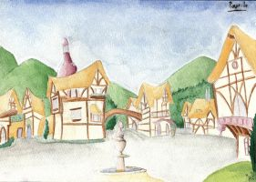 Ponyville Town Square by fimoman