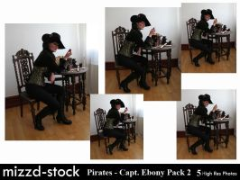 Pirates - Captain Ebony Black Pack 2 by mizzd-stock
