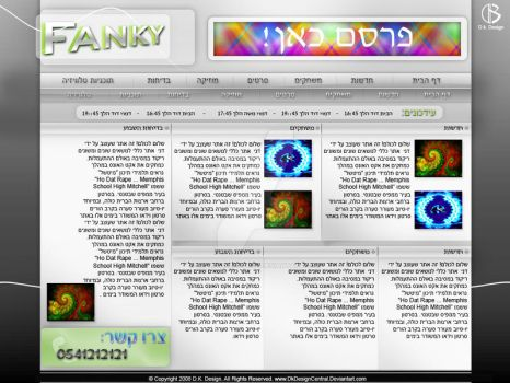 Fanky web design by DkDesignCentral