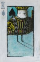 Bird- King of Spades ACEO by SethFitts
