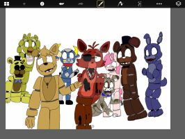 WIP- Five nights at Freddy's (pt3) by S-K-Y-L-I