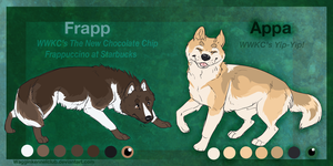 Frapp and Appa by WagginKennelClub