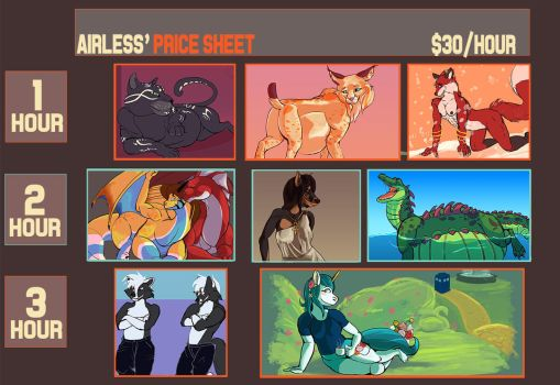 Instant Commission Price Sheet SFW by Airlesse