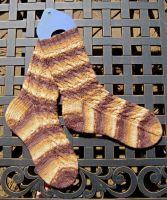 Brown Cable Socks by GarnetKimzey