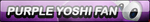 Purple Yoshi Fan Button by HeroRivalShadow2