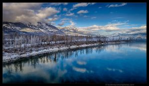 Winter - River by kootenayphotos