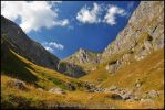 Mountain in yellow and blue by Ioan-Stoenica