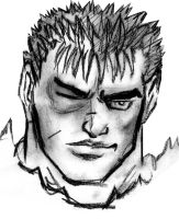 Guts Charcoal Sketch by Jameswhite89