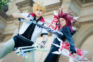 Roxas and Axel by FallingFeathers