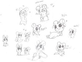 Hamtaro sketches by Ghost-Peacock