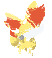 Fennekin Paint Splatter by HollysHobbies
