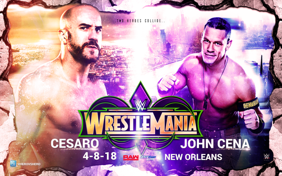 Cesaro vs Cena by GhostlyGloom